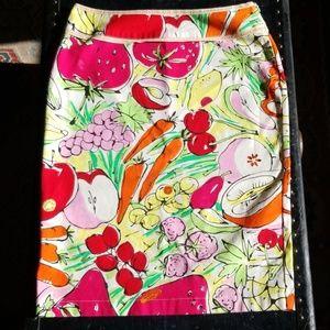 Moschino Fruity Pencil Skirt